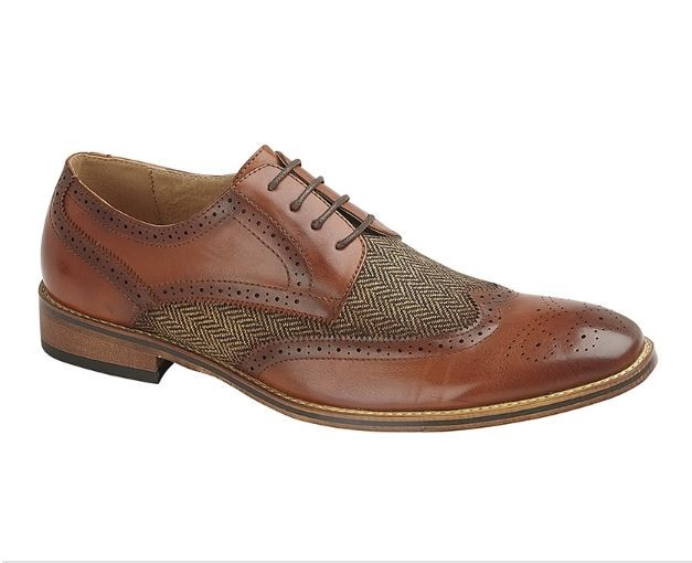 Gibson shoe with Tweed inset